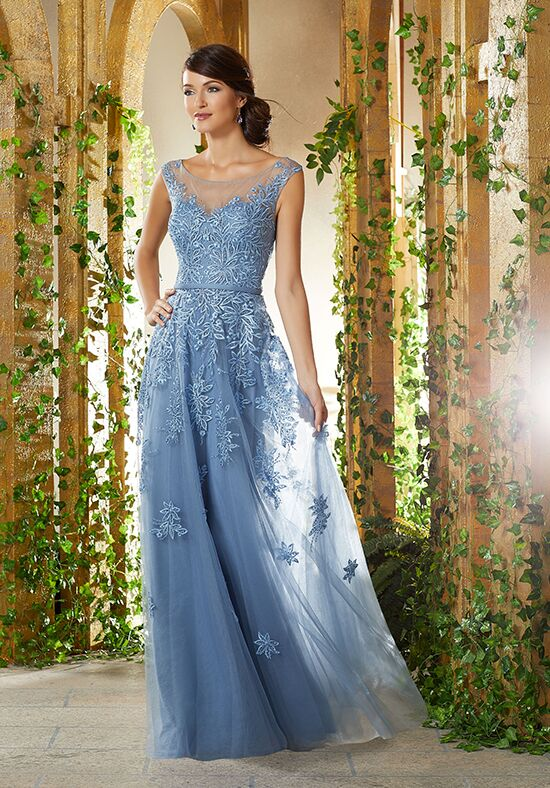 MGNY 71922 Blue,Gray Mother Of The Bride Dress
