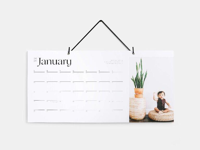 Photo wall calendar gift for boyfriend/girlfriend's parents