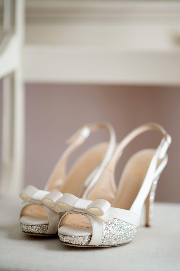 Kate Spade Silver Glitter Heels