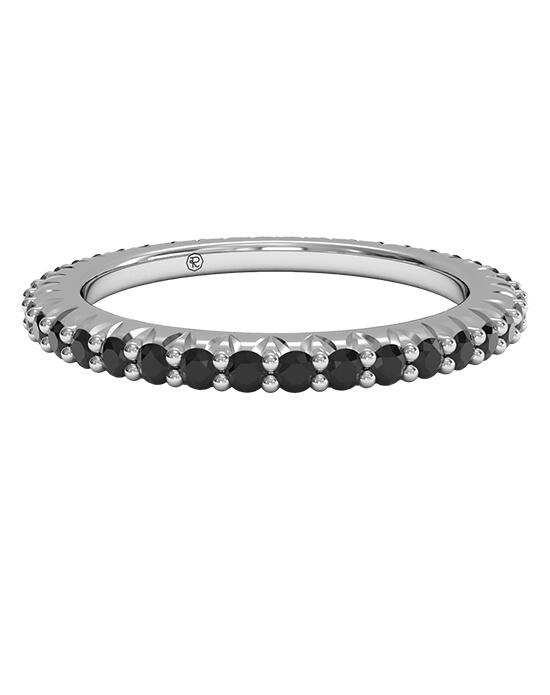 Ritani Slim Black Diamond Stackable Band in Platinum Wedding Ring photo