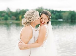 Before they even met, Michele DePasquale (32 and a teacher and coach) unknowingly made a housewarming gift for her future wife, Amy Schimmel (29 and a