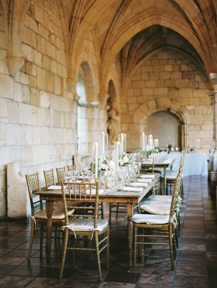 Reception Tables in Spanish Monastery