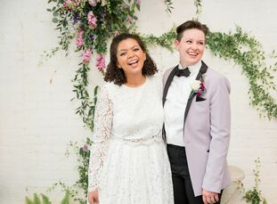 Caitlin Dininni-Parker (24 and a Spanish teacher) and Kayla Kulesa (23 and a nurse) surrounded themselves with just 20 guests for their intimate weddi