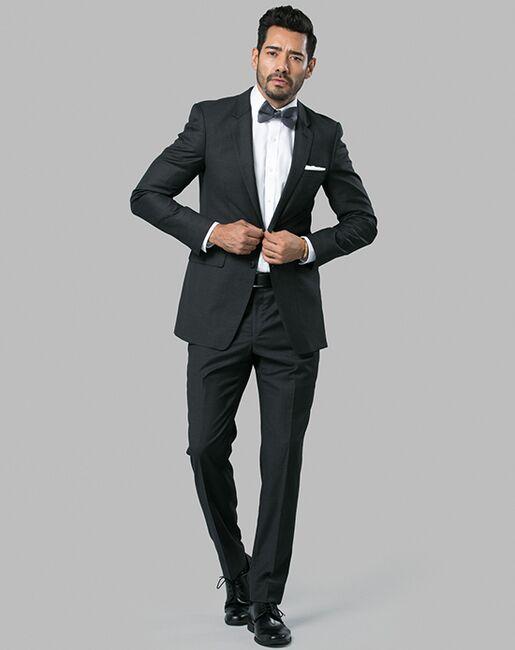 Menguin Charcoal Suit Gray Tuxedo