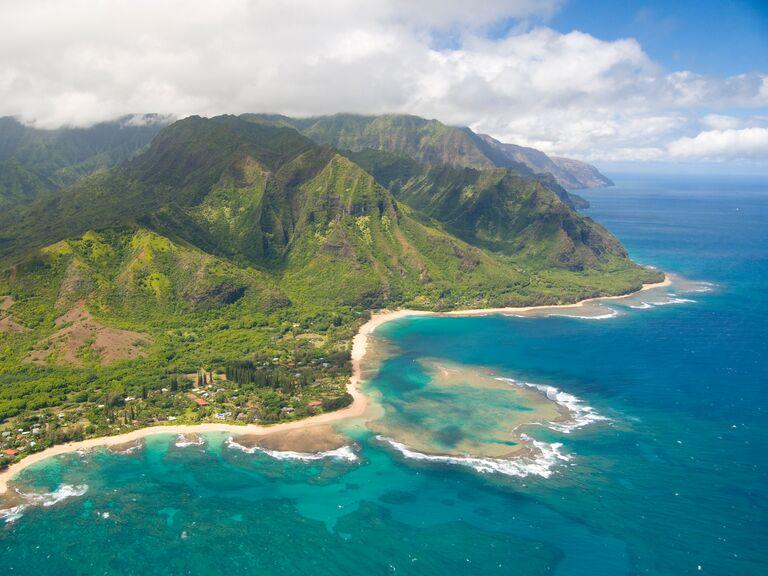 US wedding destination Kauai, Hawaii