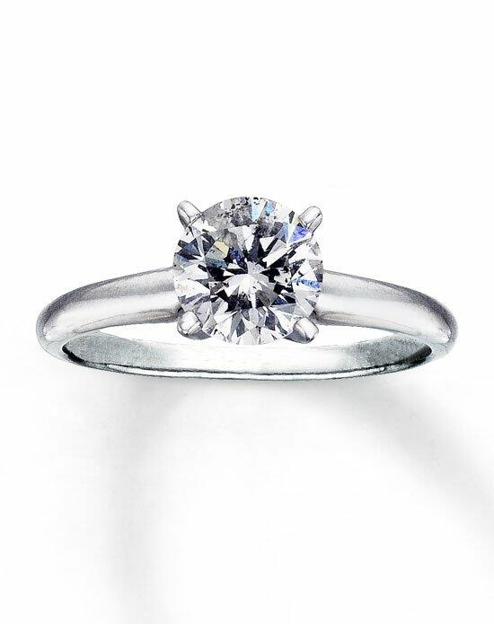 Kay Jewelers Diamond Solitaire Ring 1 1/2 ct Round 14K White Gold-150882607 Engagement Ring photo