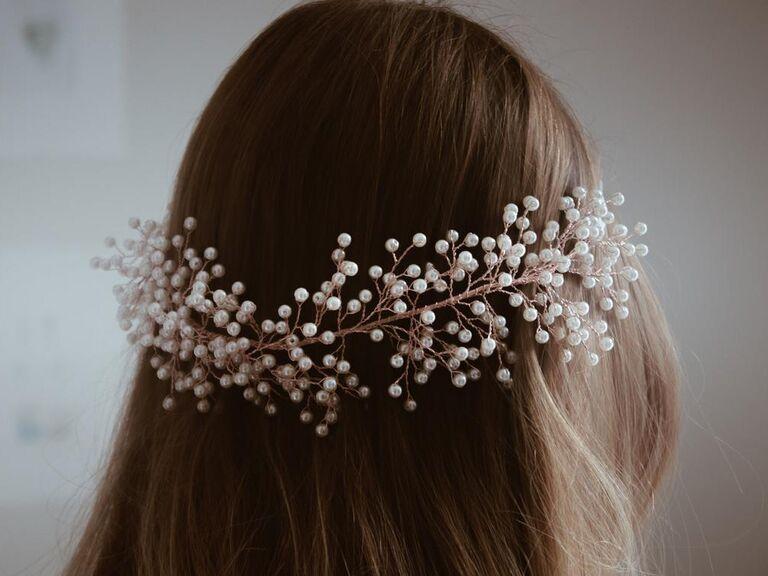 Bridal pearl headband
