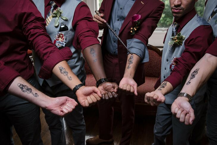 Harry Potter-Inspired Temporary Tattoos at New York Wedding