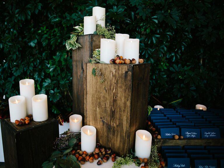Fall wedding ideas candles