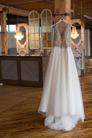 Tarik Ediz Wedding Dress With Beaded Bodice