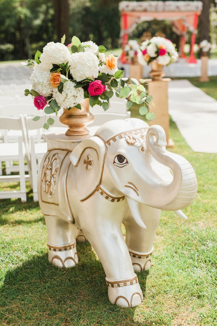 Elephants were used as a decorative element throughout the celebrations—and were also part of the couple's invitation suite.