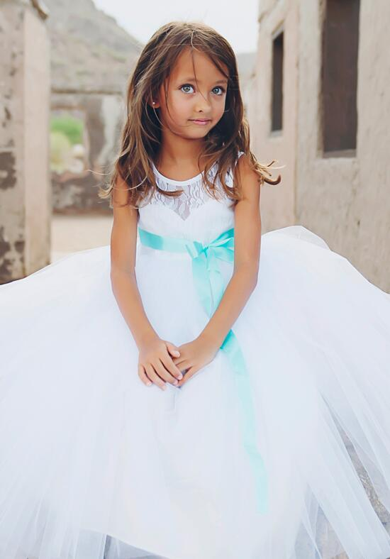 FATTIEPIE Elizabeth White Flower Girl Dress photo