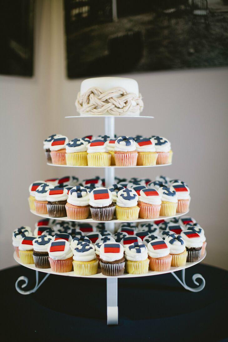 Nautical Cupcake Display
