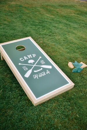 Custom Corn Hole Boards for Poconos Wedding