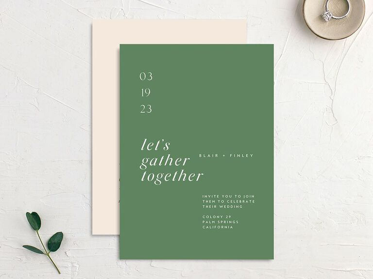 personalized wedding invitations casual greeting