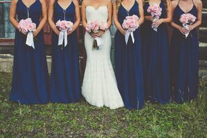 Joanna August Navy Bridesmaid Dresses