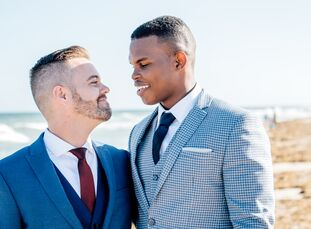 Shortly after meeting online, Jheraud James (23 and a senior restaurant manager) and Richard Werhle III (34 and an assistant general manager at a rest