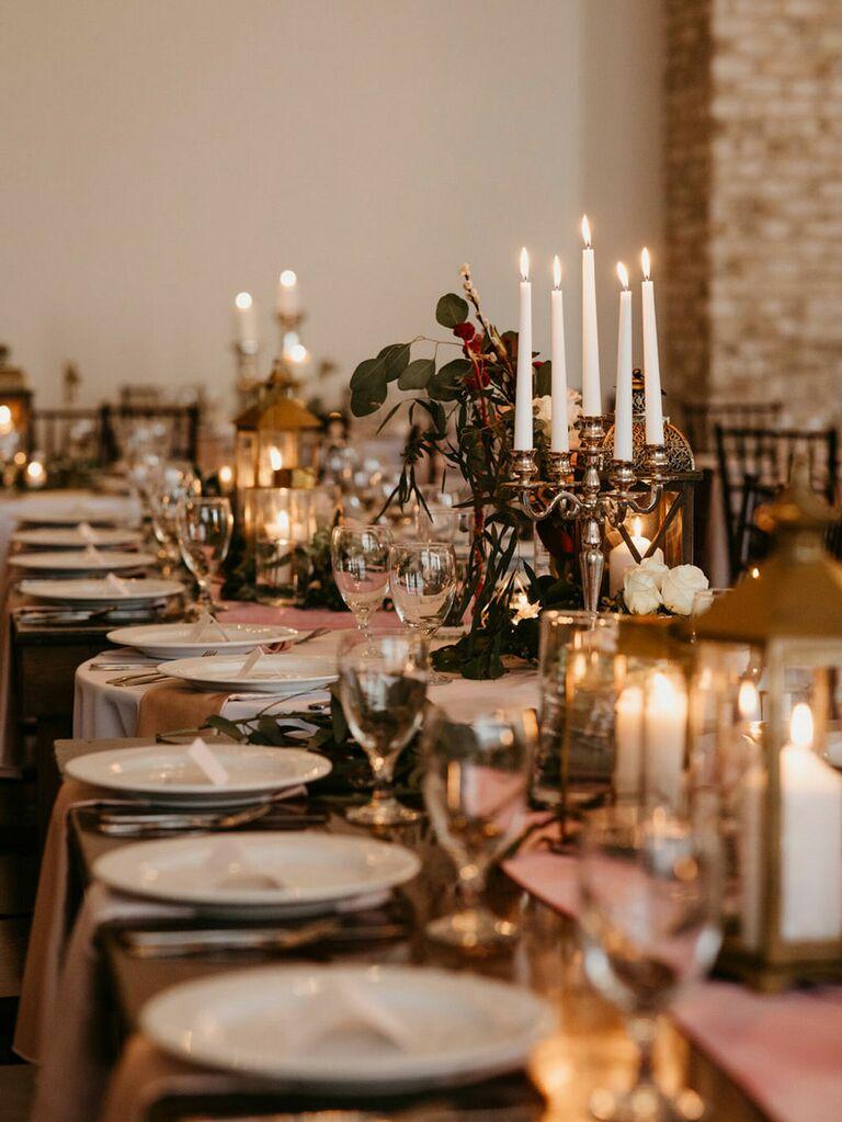Cottagecore wedding reception table inspiration