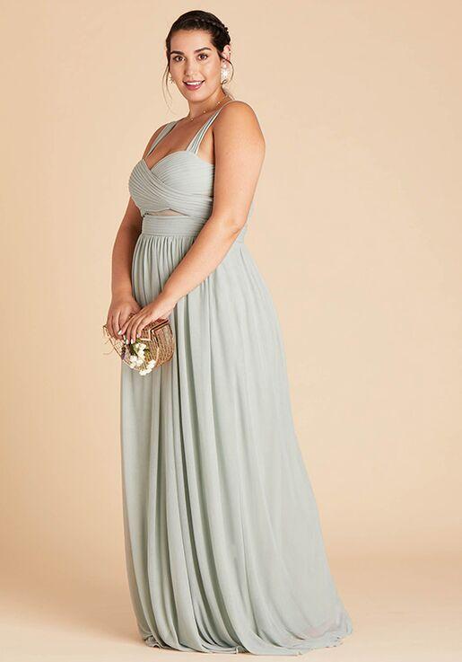 Birdy Grey Elsye Mesh Dress Curve in Sage Sweetheart Bridesmaid Dress