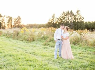 For Julie Harvey (28 and an anesthesiologist) and Aaron Hanson (29 and a pediatrics physician), who met in high school, creating a wedding that was un