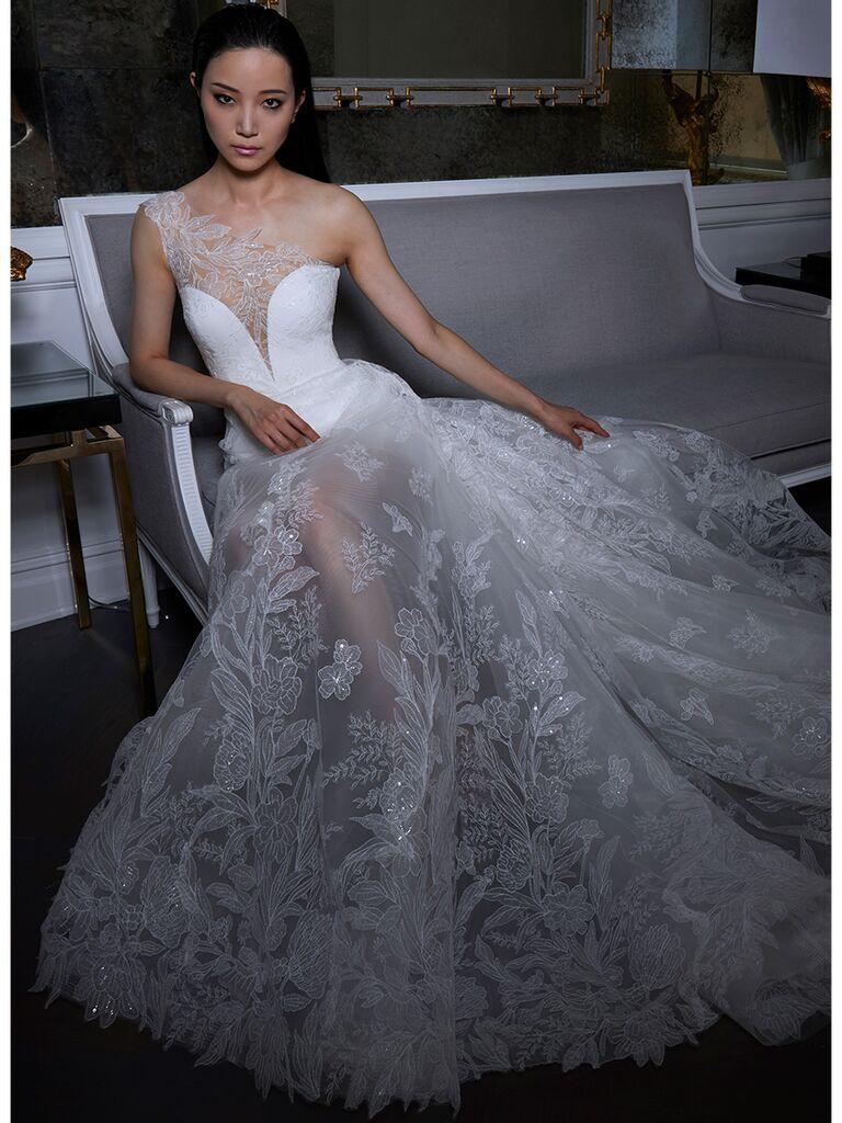 Illusion Skirt Ball Gown Wedding Dress