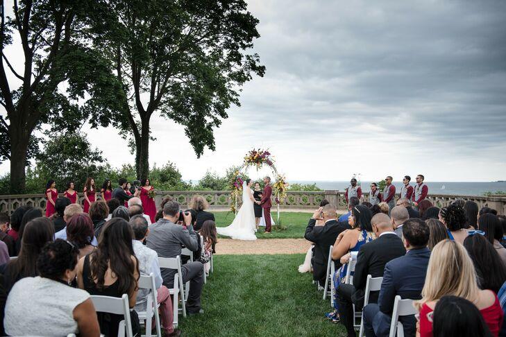 Wedding Ceremony at Hempstead House in New York