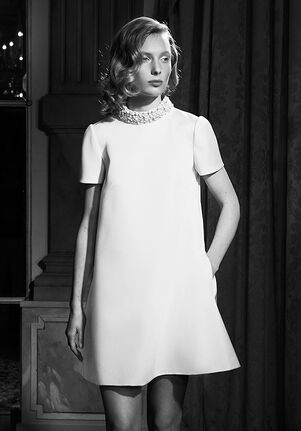 Viktor&Rolf Mariage EMBROIDERED SHIFT MINI Sheath Wedding Dress