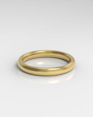 HOLDEN The Domed White Gold, Rose Gold, Platinum Wedding Ring