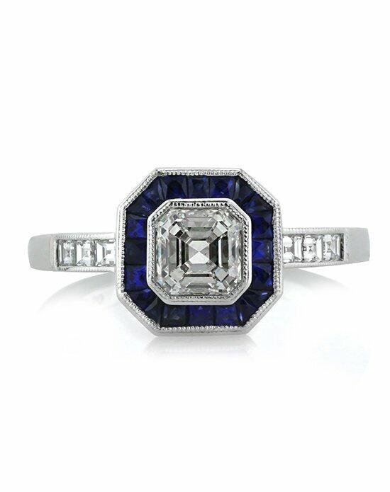 Mark Broumand 1.80ct Asscher Cut Diamond and Sapphire Engagement Ring Engagement Ring photo