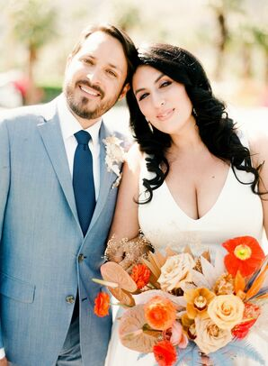 Bride and Groom Portraits at the Ace Hotel and Swim Club in Palm Springs