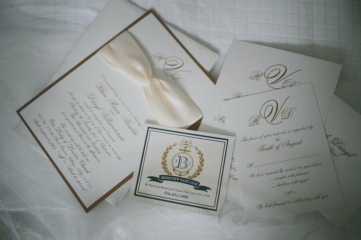 Classic Ivory-Colored Invitation Suite