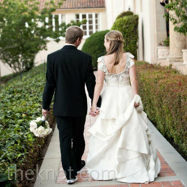 My dress was different than my typical style, says Terren of her ornate gown, And it made our wedding day feel special.