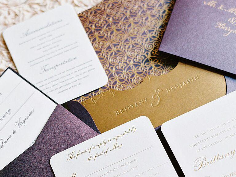 embossing invitations