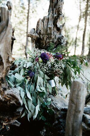 Lush Cascading Eucalyptus and Baby's Breath Bouquet