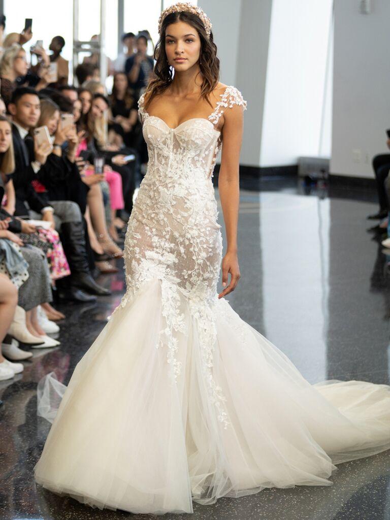 berta mermaid corseted dress