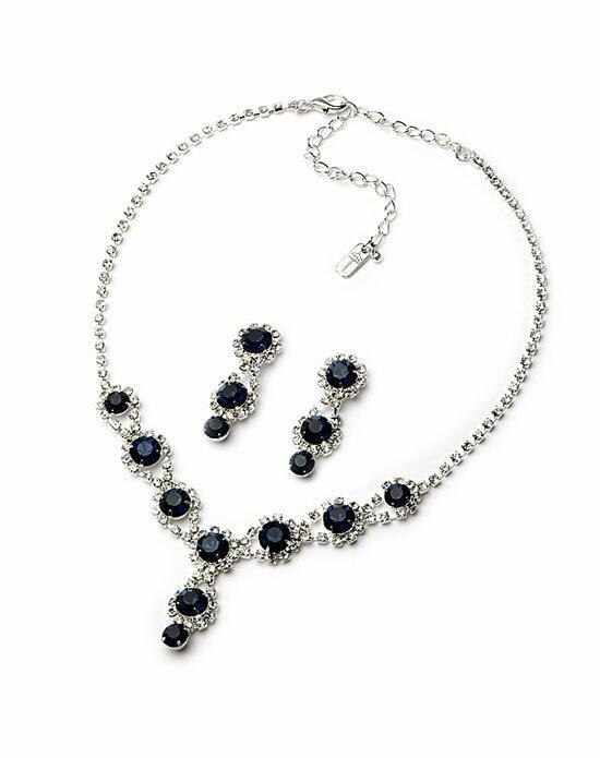 USABride Regina  Navy Blue Jewelry Set Wedding Necklaces photo