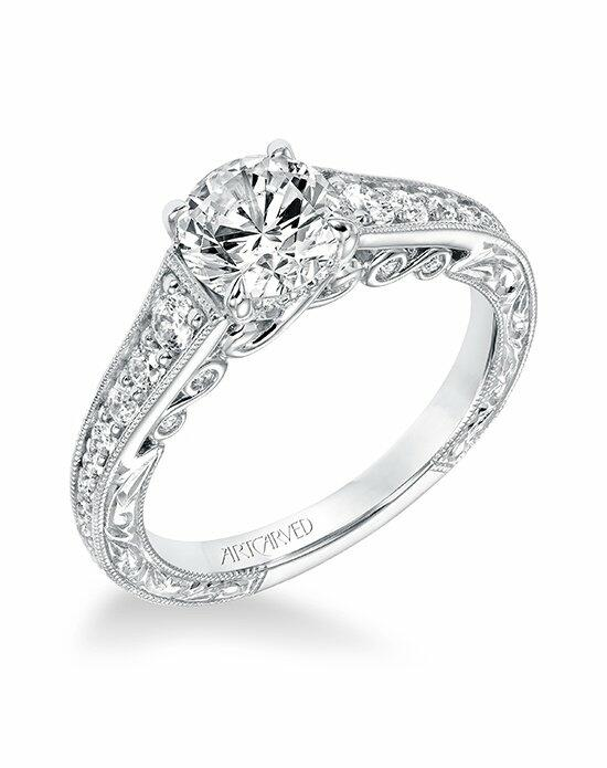 ArtCarved 31-V691ERW-E Engagement Ring photo