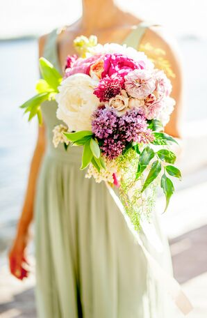 Lilac and Peony Bridesmaid Bouquet