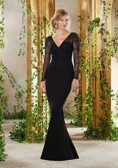 MGNY 71910 Black,Gray,Silver Mother Of The Bride Dress