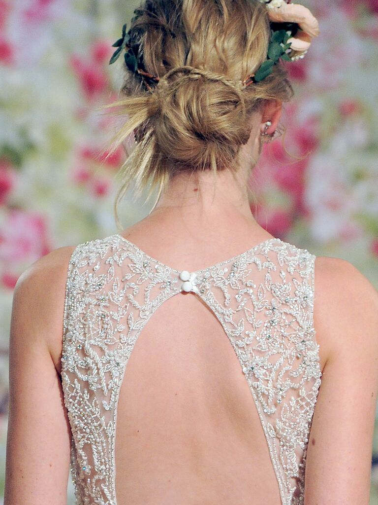 Twisted ballerina bun hairstyle for long or medium hair