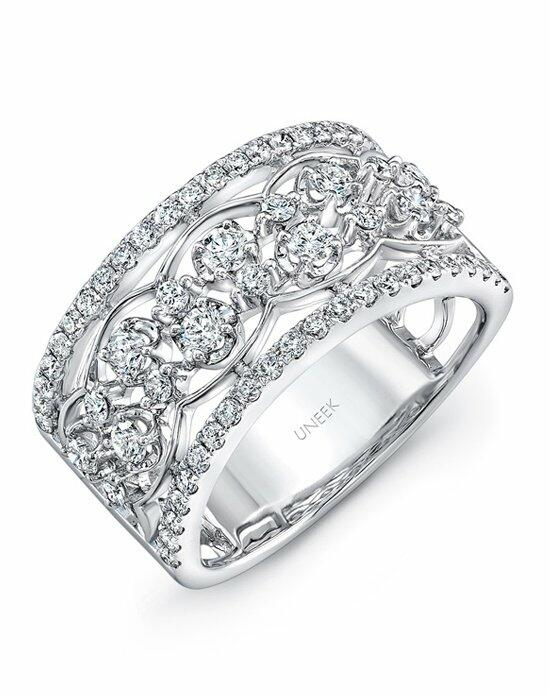 Uneek Fine Jewelry The Rose Garland Open Lace Two-Row Diamond Band/LVBW404W Wedding Ring photo