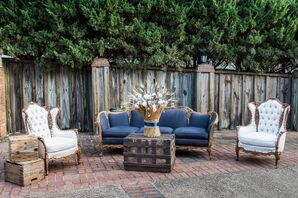 Navy and Ivory Lounge Furniture