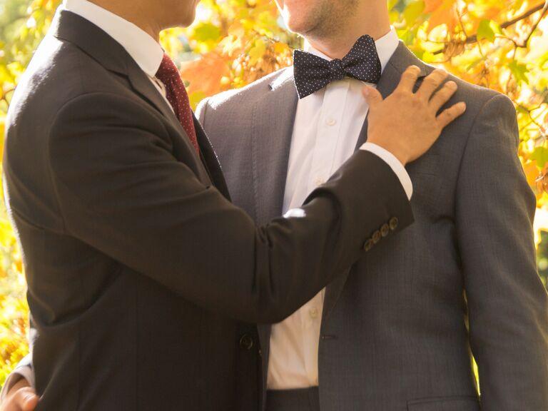 Same-sex couple on wedding day