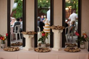 Cookie Display on White Pillar Stands