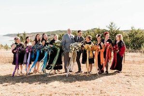 Wedding Party Portraits at Blue Vista in Randolph, Kansas