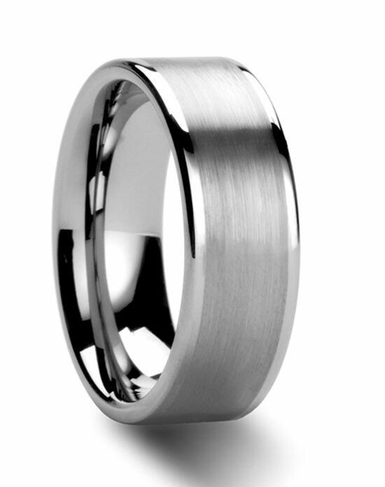 Larson Jewelers AIRES Flat Brush Finish Center Tungsten Carbide Ring - 4 - 8 mm Wedding Ring photo