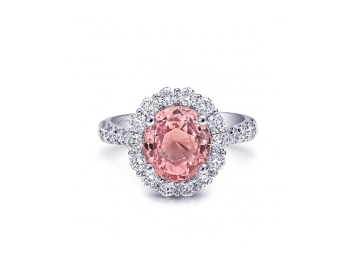 coast diamond pink sapphire engagement ring