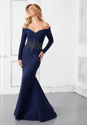 MGNY 72308 Silver,Blue Mother Of The Bride Dress