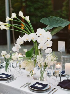 Calla Lily Centerpieces for Wedding at The Foundry in Long Island City, New York