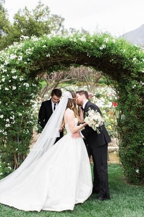 Ivory Cathedral Veil With Vintage Topper